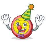 小丑西番莲果吉祥人动画片 免版税库存照片