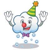 小丑雪云彩字符动画片 免版税库存照片