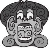 小丑面孔。 免版税库存图片
