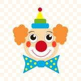 小丑面孔 免版税库存照片