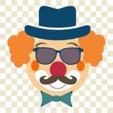 小丑面孔 免版税库存图片
