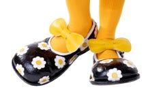 小丑鞋子 免版税图库摄影