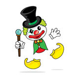 小丑魔术 免版税库存图片