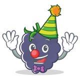 小丑黑莓吉祥人动画片样式 免版税库存照片