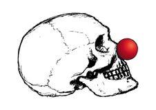 小丑头骨向量 库存照片