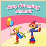 小丑 向量例证