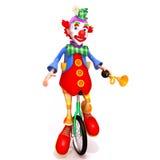 小丑3d例证 免版税库存照片