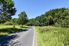小乡下公路在梅克伦堡福尔波门德国 图库摄影