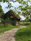 小乡下的房子 免版税库存照片
