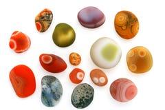 小五颜六色的小卵石 免版税库存照片
