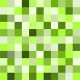 小五颜六色的正方形无缝的飞碟绿色正方形瓦片样式 向量例证