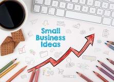 小企业想法概念 浏览生意人服务台办公室万维网白色 免版税库存照片