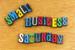 小企业星期六销售标志 免版税图库摄影
