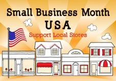 小企业月,美国,支持地方商店 免版税库存图片