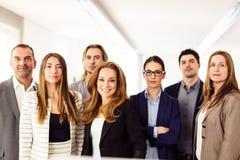 小企业队在他们的办公室 免版税图库摄影