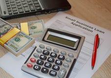 小企业贷款 根据收支的工商业贷款 免版税库存图片