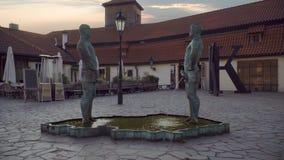 小便人的喷泉 影视素材