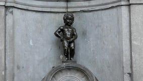 小便的男孩的著名喷泉 影视素材
