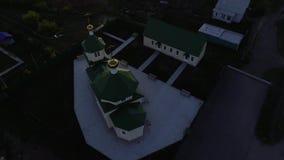 小俄国教会空气视图 影视素材