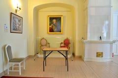 小修道院宫殿的1个保罗大厅在Gatchina 免版税库存图片