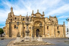小修道院教会在El Puerto de圣玛丽亚镇,西班牙 库存图片