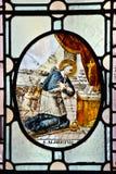 小修道院教会窗口|圣迈克尔的登上 免版税库存图片