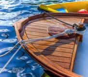 小充气救生艇小船 库存照片