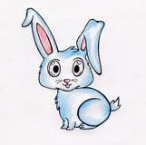 小兔图画 免版税库存照片