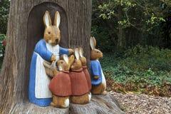小兔雕塑 图库摄影