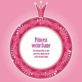 小公主的逗人喜爱的背景 免版税图库摄影
