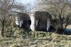 小具体军事地堡 ii战争世界 斯洛伐克共和国 免版税库存照片