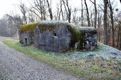 小具体军事地堡 ii战争世界 斯洛伐克共和国 免版税库存图片