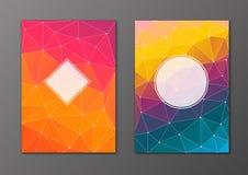 小册子和飞行物多角形盖子集合 免版税图库摄影