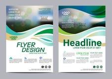小册子布局设计模板 年终报告飞行物传单盖子介绍现代背景 在A4的例证传染媒介 免版税库存图片