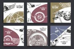小册子或飞行物设计 摩托车和极端 库存照片