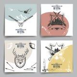 小册子或飞行物设计 武器,动物 免版税库存图片
