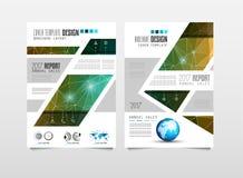 小册子模板、飞行物设计或者Depliant盖子企业介绍的 免版税图库摄影