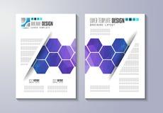 小册子模板、飞行物设计或者Depliant盖子企业介绍的 向量例证