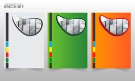 小册子模板传染媒介 库存例证