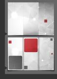小册子模板设计。 免版税图库摄影