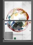 小册子模板设计。 免版税库存照片