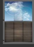小册子模板设计 免版税库存照片