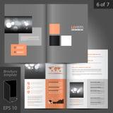 小册子模板设计 库存照片