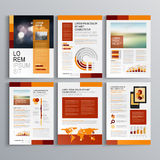 小册子模板设计 免版税库存图片
