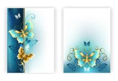 小册子的设计与豪华蝴蝶 库存例证