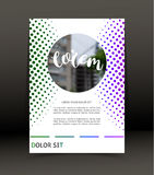 小册子的,盖子抽象背景 海报的模板 向量 免版税图库摄影