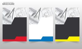 小册子设计模板传染媒介Flayers年终报告 向量例证