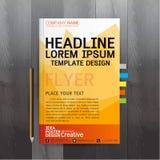 小册子,飞行物,海报,在A4大小的设计版面模板 皇族释放例证