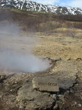 小冰岛语温泉城 免版税库存照片