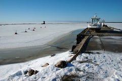 小冻结的港口 免版税库存图片